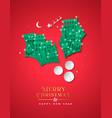 year paper cut mistletoe winter city vector image vector image