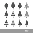 tree icons2 vector image