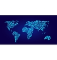 World map in dots style vector image