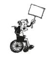 senior man in wheelchair vector image