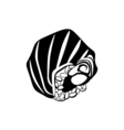 Sushi icon in black monochrome style isolated on vector image