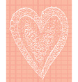 White heart on a pink background squared vector image