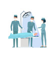 doctors and nurse in operation vector image