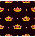 seamless pattern with princess crown vector image