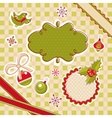 abstract cute christmas design elements vector image vector image