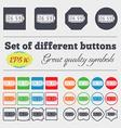 alarm clock icon sign Big set of colorful diverse vector image