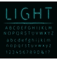 Alphabet of lights vector image