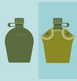 army water canteen and case vector image vector image