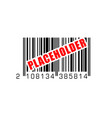 bar code with placeholder temporary label vector image vector image