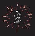 black lives matter lettering design element vector image