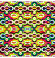 bright abstract geometric seamless pattern in vector image vector image