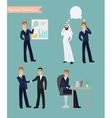 Cartoon businessman poses vector image