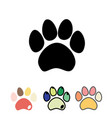 cats or dogs paws set cats and dogs paw icon vector image vector image