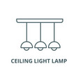 ceiling light lamp line icon ceiling vector image vector image