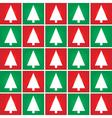 christmas tree seamless pattern vector image vector image