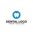 circle tooth care dental clinic dentist logo vector image vector image