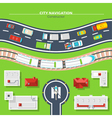 City Navigation Top View vector image vector image