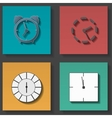 Clock icons set