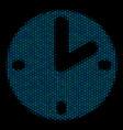 clock mosaic icon of halftone spheres vector image vector image