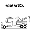 Collection transportation of tow truck vector image vector image
