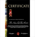 Colorful and black certificate template vector image vector image