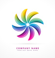 colorful symbol shape design vector image vector image