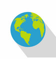 continent on planet icon flat style vector image vector image