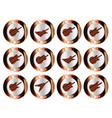 copper guitar icon buttons vector image vector image