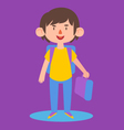 Cute Boy Ready to go Back to School vector image