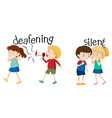 deafening and silent scene vector image vector image