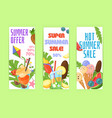 discount modern summer promo web banner vector image vector image
