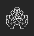 environmental services chalk white icon on black vector image