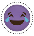 expression face emoji icon vector image vector image