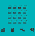 file extensions icon flat vector image