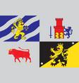 flag of vastra gotaland county in sweden vector image