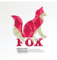 fox geometric paper craft style vector image