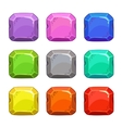 Funny cartoon colorful square buttons vector image vector image