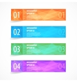 Glossy modern infographics options banner set vector image vector image