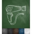 hair dryer icon vector image vector image