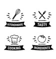 handdrawn kitchen icon set with title vector image vector image