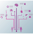 Health And Medical Infographic Infochart vector image vector image