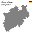 high quality map is a state of germany vector image