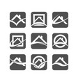 house roof logo icons