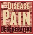 How To Treat Degenerative Disc Disease text vector image vector image