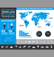 Infographic template for tourism with charts vector image