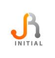 initial letter jr logo concept design technology vector image vector image