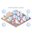 isometric map or plan urban industrial area vector image
