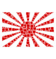 japanese rising sun composition of squares and vector image vector image