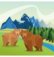Landscape with animals designmountain icon vector image vector image