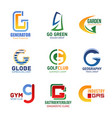 letter g icons for corporate identity vector image vector image